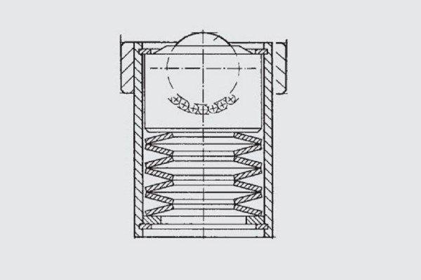 Gefederte Kugelrolle - FG10-022