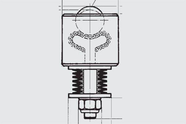 Gefederte Schwerlast-Kugelrolle - FR00-050