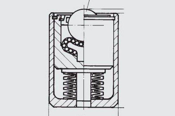 Gefederte Schwerlast-Kugelrolle - FR01-070