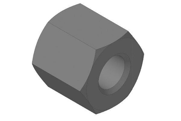 Trapezgewindetriebe - Messing Sechskantmutter - QKM10x3L6